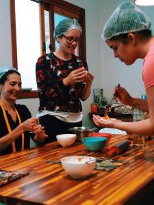 Aula prática de culinária